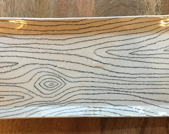 Rectangle Wood Grain Plate