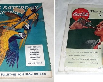 March 11, 1939 SATURDAY EVENING POST, Great Car Adv and other