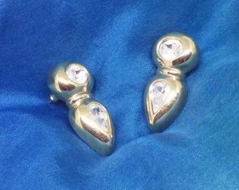 Swarovski SAL Signed Crystal Pierced Earrings