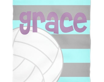 Personalized Throw Blanket- Volleyball Blanket