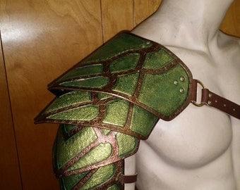 Leather Armor Nightingale inspired Sentinel 2 segmented shoulder