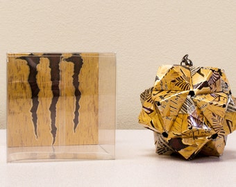 Java Monster Salted Carmel Christmas Ornament  //  Origami // Upcycled Recycled Repurposed Art  //  coffee  // handmade decor