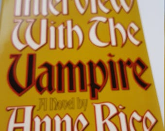 Interview With the Vampire,1976 Book Club Edition