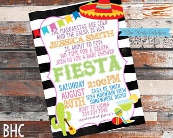 Fiesta Themed Baby Shower. Fiesta Baby Shower. Baby SHower invitation. Fiesta Invitation. Fiesta baby shower invitation. Baby shower. 5X7