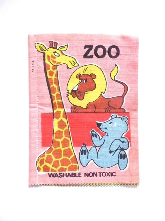 Zoo un paño Vintage de tela peluche libro