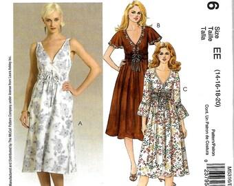 McCall's 5316 Laura Ashley Lined Dress Pattern, Size 14-20, UNCUT