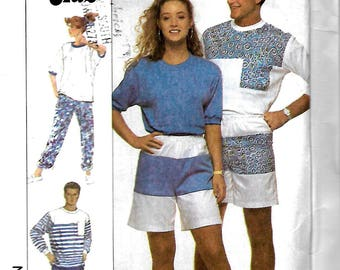 Simplicity 9117 Misses, Men's And Teens Pants, Shorts And Top Pattern, Surf Club, XS, UNCUT
