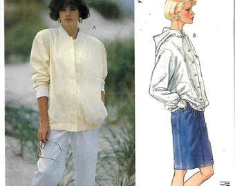 McCall's 2913 Misses Unlined Jacket, Straight Skirt And Tapered Pants Pattern, Size 8, UNCUT