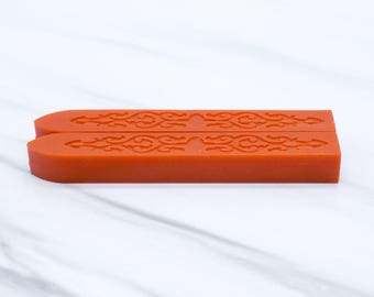 Orange Sealing Wax - standard or fit for glue gun (set of two) - Color W