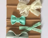Minty Miss Bow Set