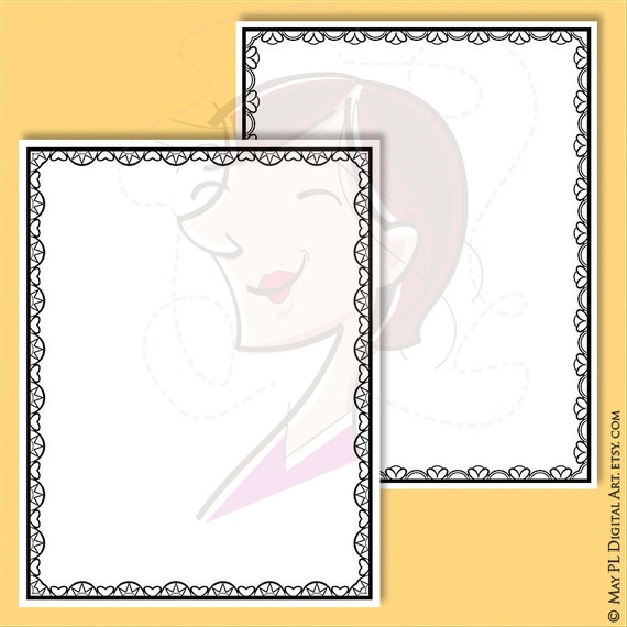 page borders vector jpg png files lace document frames clipart 8x11 award certificate template diploma frame diy wedding invitations 10278