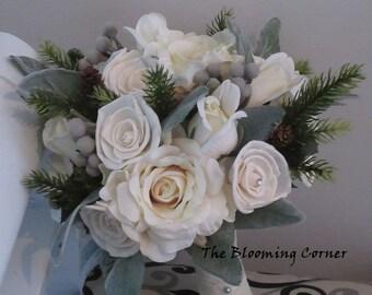 Wedding Bouquet, Sola wood Bouquet,  Bride bouquet, silk  Bouquet, Alternative Bouquet, bouquet, Sola flowers, Wood Bouquet, faux bouquet