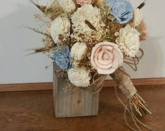 Wedding Bouquet, Sola wood Bouquet, Woodland Dried Bouquet, wild flowers bouquet, Bridal Bouquet, Sola flowers, Alternative Bouquet, Rustic