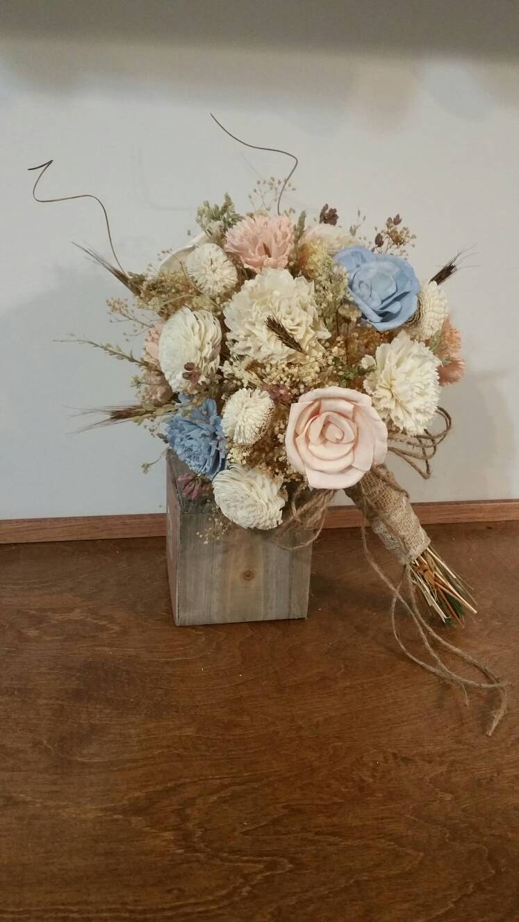 wooden flowers wedding bouquets wedding bouquet sola wood bouquet woodland dried bouquet 1486