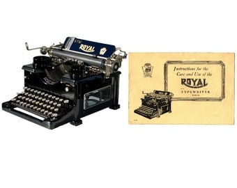 Royal No.10 Typewriter Instruction Manual Instant Download for 2nd Generation w/Single Window Pane