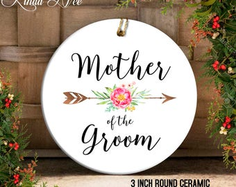 Mother of the Groom Ornament, Wedding Christmas Ornament Wedding Gift to Mom, Wedding Favor, Mother of the Bride Gift, Mother in Law OPH58