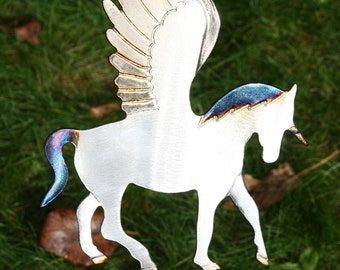 Metal Pegasus lawn ornament