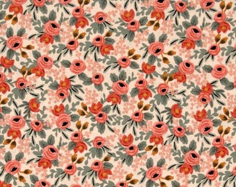 Crib Sheet Rifle Paper Co Rosa Peach Floral. Fitted Crib Sheet. Baby Bedding. Crib Bedding. Crib Sheets. Floral Crib Sheet.