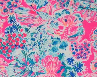 Various sizes of Tiki Pink Gypsea Pink cotton dobby  ~Authentic Lilly Pulitzer fabrics~