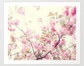 Cherry blossom art, mothers day gift, extra large wall art, framed wall art, blush pink wall art, wall art canvas, flower wall art, print