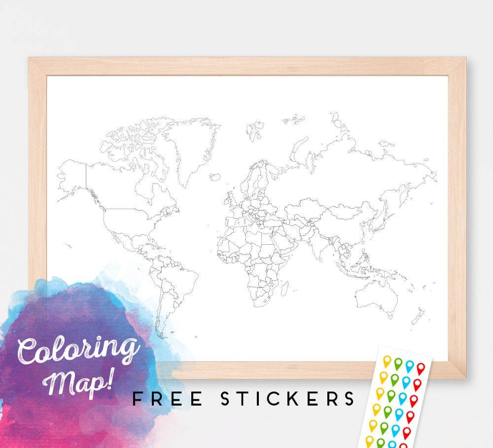 world map for coloring blank world map countries world map