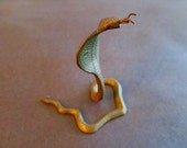 Small Vintage Indian Cobra Sculpture In Aged Brass
