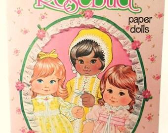 ON SALE Vintage 1978 Rosebud Paper Doll Book, Mattel Inc., Whitman Book, Uncut, Collectible, Paper Dolls