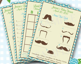 Mustache Baby Shower Games, Mustache Shower Game, Little Man Baby Shower, Mustache Baby Shower, Boy Baby Shower, Baby Shower Game - #000