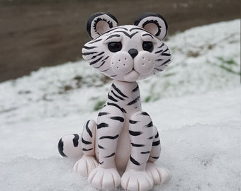 Made to order Polymer clay snow  tiger