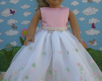 Pretty Pink Party Dress for 18 inch Dolls like American Girl