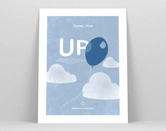Up Movie Poster ~ Disney Gift, Art Print by Christopher Conner