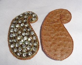 A Pair of Rhinestone Paisleys - Embellishments
