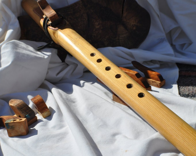 Native American Style Low D scale Cedar wood flute BY CRAZY BEAR