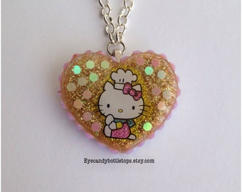 Chef Kitty Resin Charm Necklace