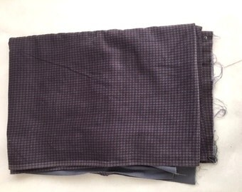 LAVENDER Purple Velour HOUNDSTOOTH Fabric / Purple Checkered Textured Fabric