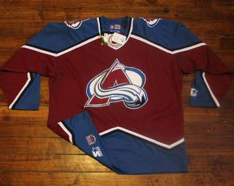 Colorado Avalanche jersey vtg NHL hockey vintage deadstock sweater shirt Large