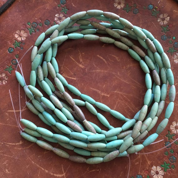 rustic 14 mm Green Chinese Howlite stone beads supplies barrels cylinder hoplite stones . jewelry supplies . tribal jewelry . earthy colors