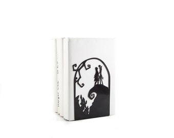 Bookend The Nightmare Before Christmas // Jack Skellington and Sally // Kid's Room Decor // Nursery  // Free Shipping // decorative bookends