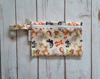 Wet bag,Cosmetic Bag,Small Wet bag,Diaper Bag,Travel Bag,Diaper Wet Bag, Animal Wet Bag