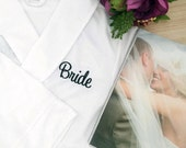 Personalised Robe; Wedding Robe; Personalised Wedding Robe; Bridal Robe; Bride dressing gown; Robe; Mother of bride gift;mother of the bride