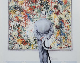 Norman Rockwell-The Connoisseur-1992 Poster