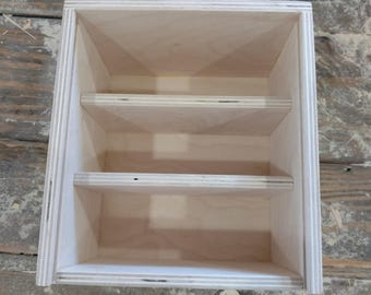 Heirloom Photo box with 3 sections for 4x6 prints