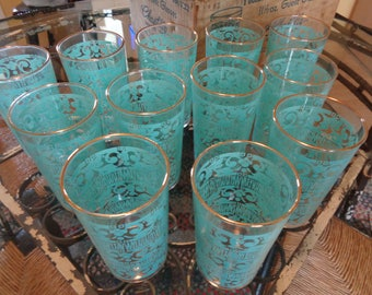 Vintage Anchor Hocking Glasses, Retro Kitchen Drinkware