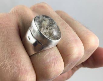Lodolite Quartz Ring