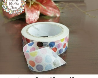 Happy Dots Washi Tape - So pretty for your planner & art journal pages!