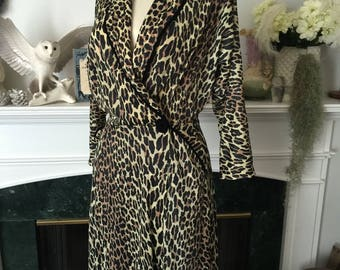 50s Vanity Fair Leopard Dressing Robe