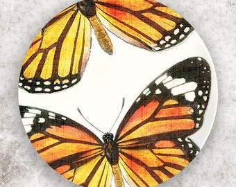 Monarch butterfly melamine plate or platter