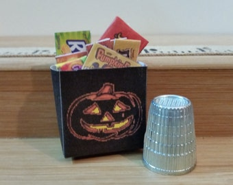 H-17    Miniature Halloween filled treat bag   for dollhouses and barbie