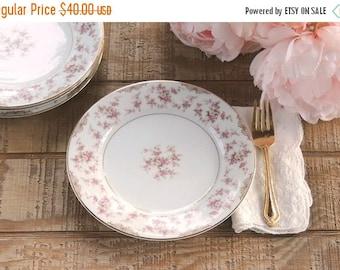 On Sale Vintage Noritake Charmaine Salad Plates Set of 4 Weddings Tea Parties Cottage Style Plates Antique Plates Ca. 1950
