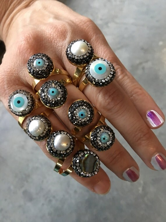 Evil Eye Rings, Evil Eye Protection Jewelry, Eye